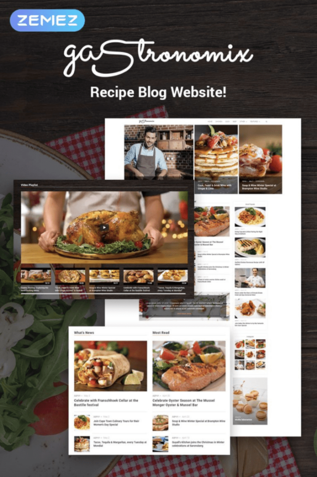 Gastronomix WordPress Themes for blogs