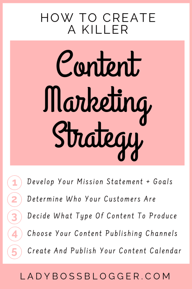 content marketing strategy LadyBossBlogger.com