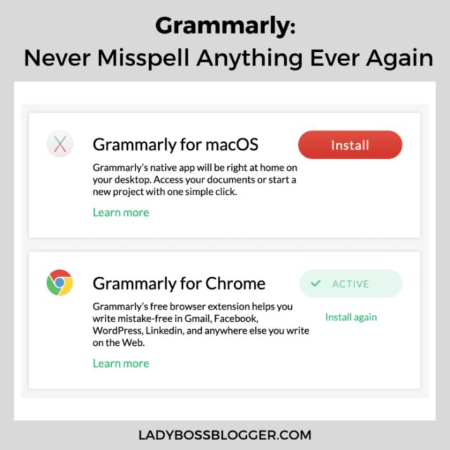 grammarly ladybossblogger