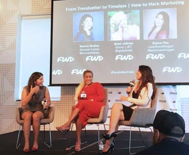 elaine rau speaking at FWD events women and diversity ladybossblogger
