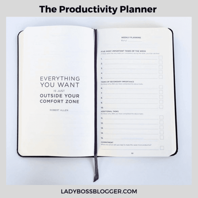 the productivity planner ladybossblogger