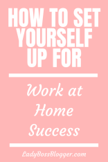 Work From Home Success