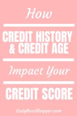credit history + credit age = credit score 1