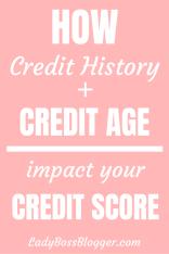 credit history + credit age = credit score 3