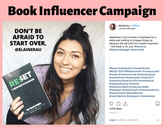 Influencer Elaine Rau promotes books