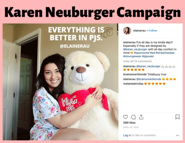 Elaine Rau PJS influencer campaign