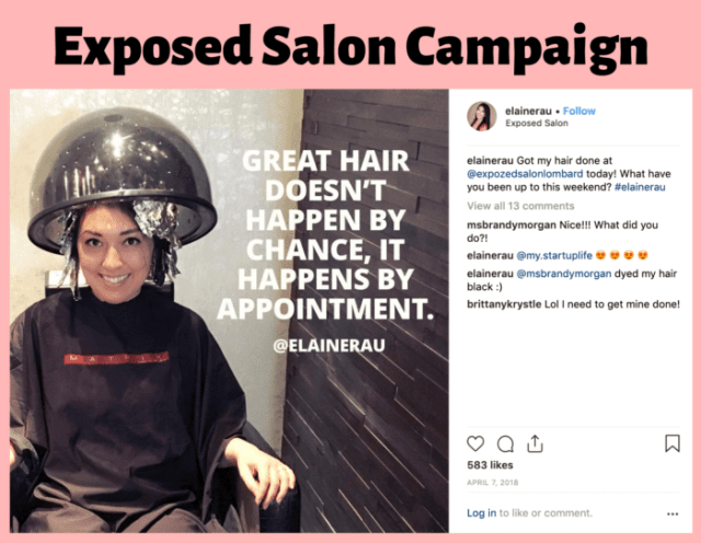 hair salon influencer campaigns by Elaine Rau
