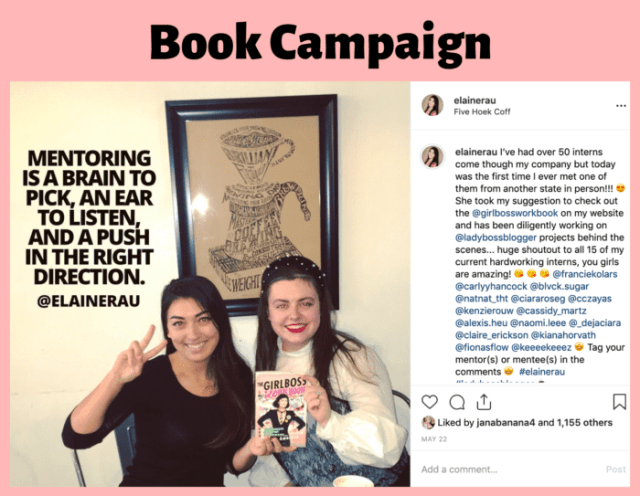 Influencer Campaign Elaine Rau GirlBoss book