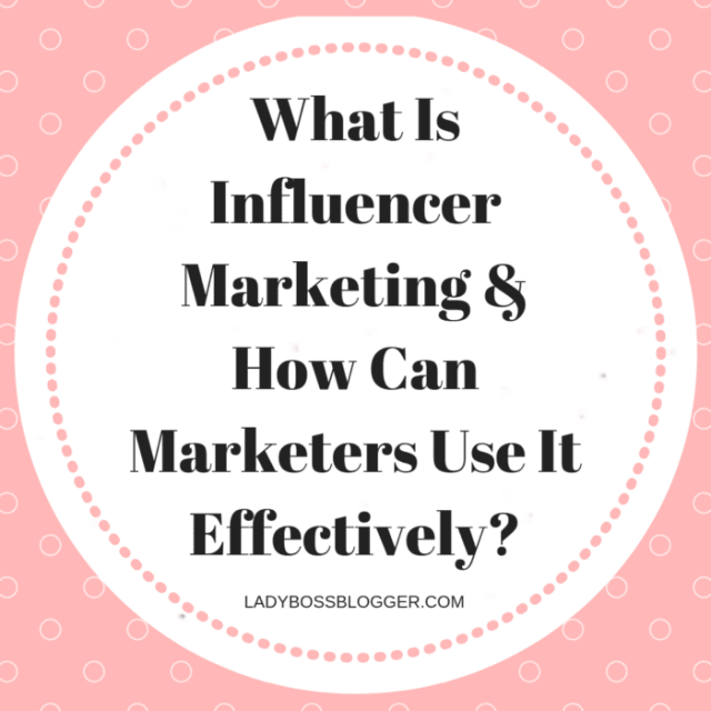 influencer marketing for marketers