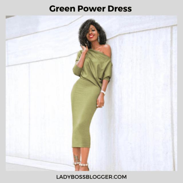 green power dress ladybossbloggershop