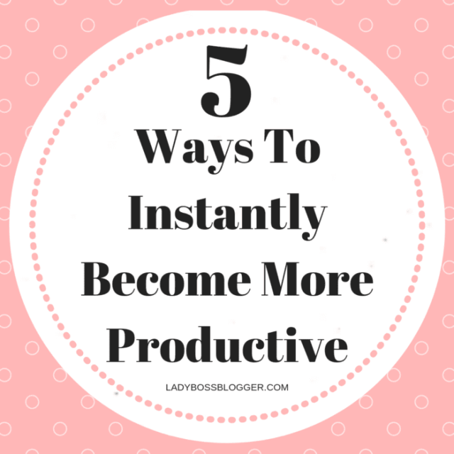 Become More Productive