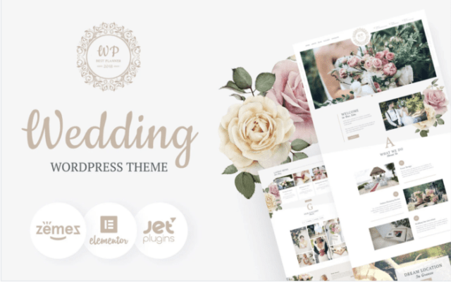 Belle Fleur - Wedding Landing Elementor WordPress Theme ladybossblogger.com
