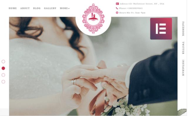 ForeverLove - Wedding Landing Elementor WordPress Theme ladybossblogger.com