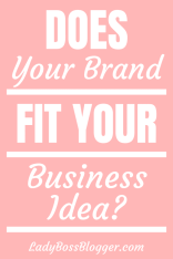 business idea brand fit