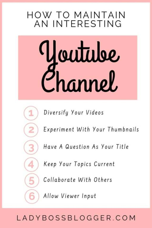 youtube channel LadyBossBlogger.com