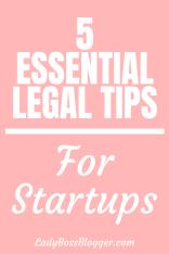 legal tips for startups ladybossblogger
