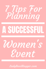 Planning A Successful Women's Event