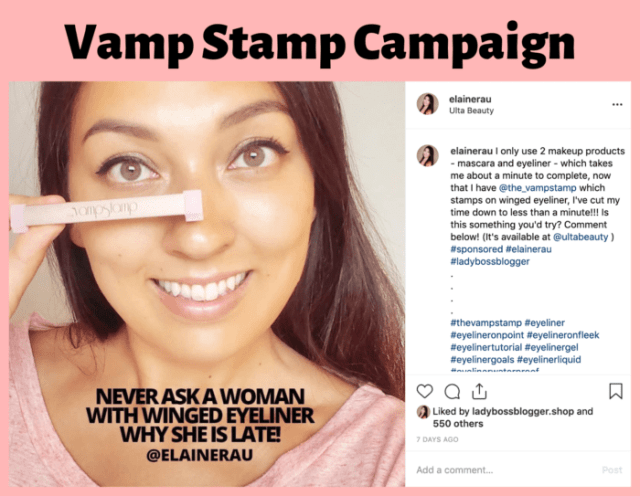 vamp stamp iinstagram influencer elaine rau