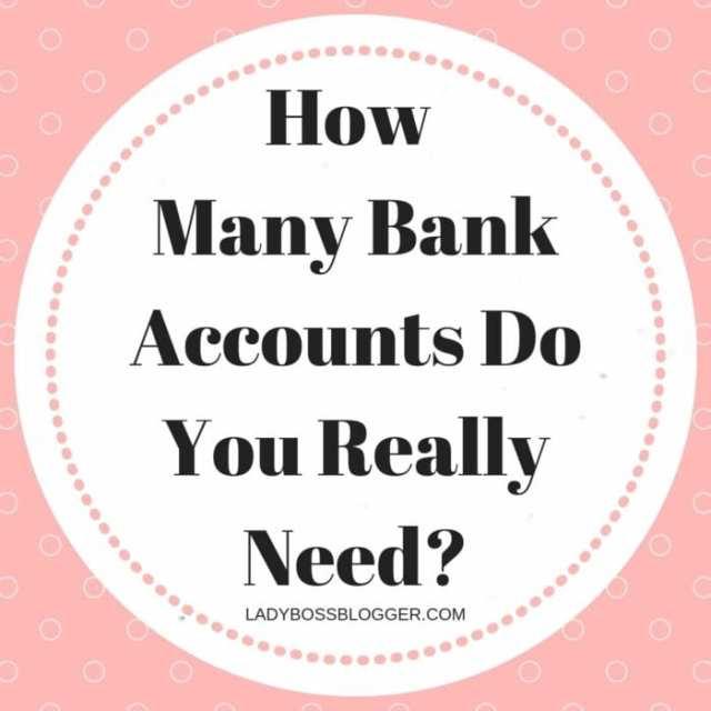 How Many Bank Accounts Do You Really Need?