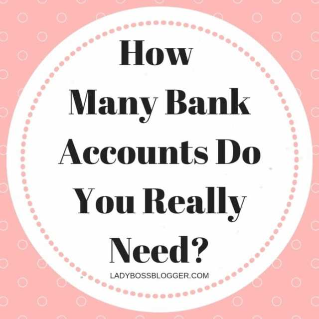 How Many Bank Accounts Do You Really Need?