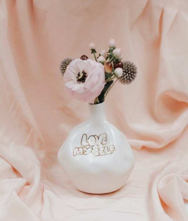 'Love Myself' Vase