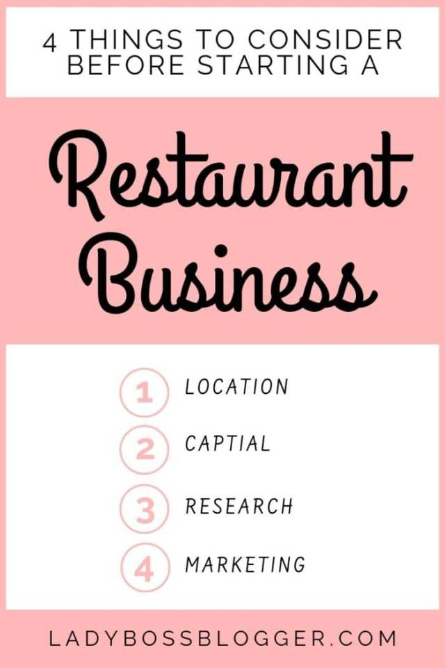 Starting A Restaurant Business