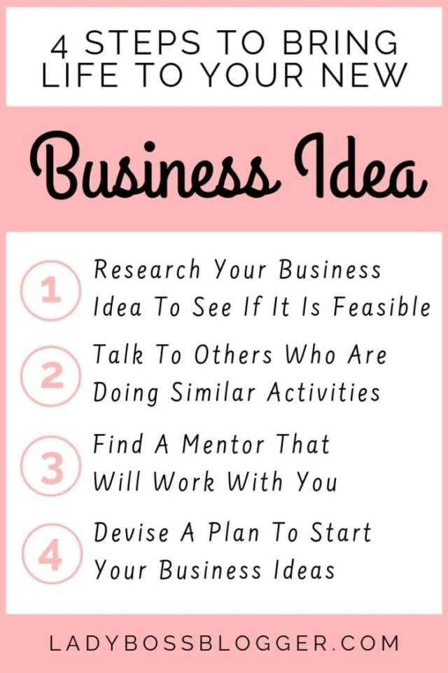 Business Idea To Life ladybossblogger