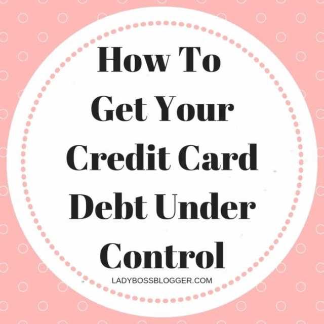 Credit Card Debt Under Control