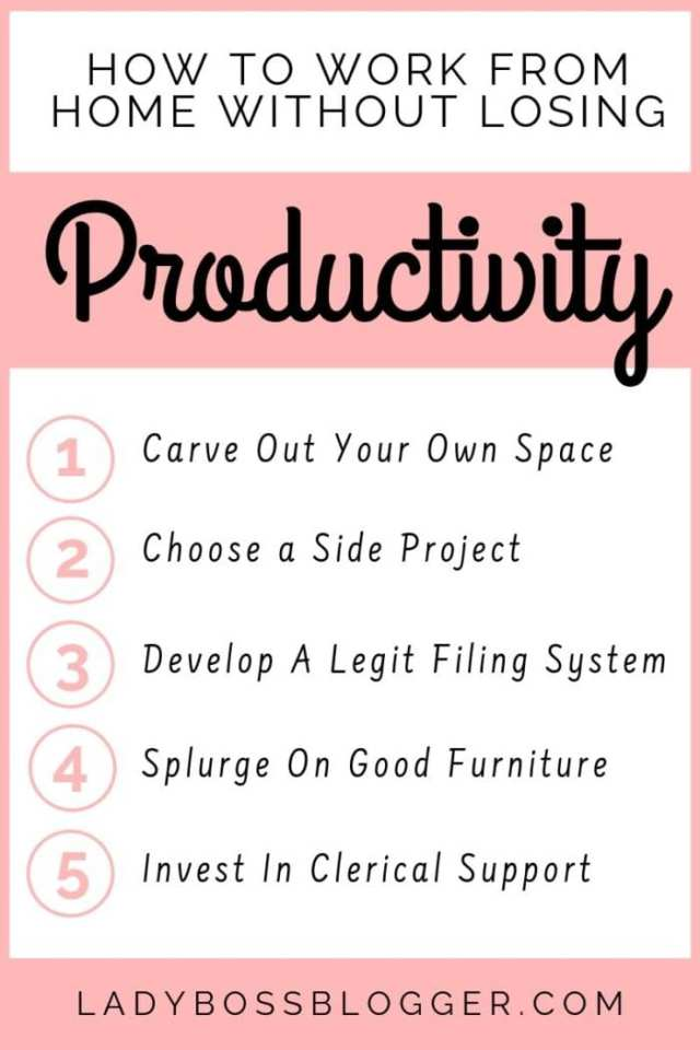 How To Work From Home Without Losing Productivity ladybossblogger
