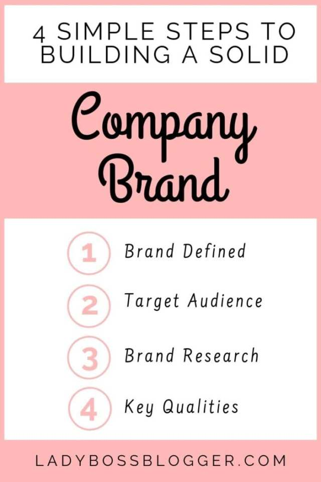build a company brand ladybossblogger