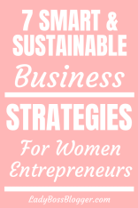 smart sustainable business strategies ladybossblogger