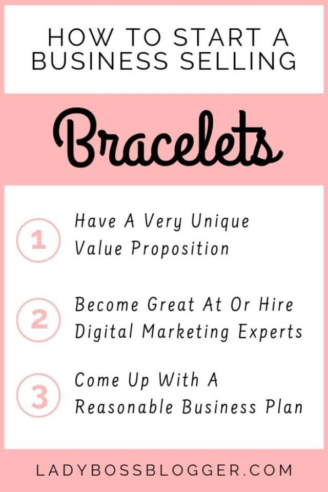 How To Start A Business Selling Bracelets