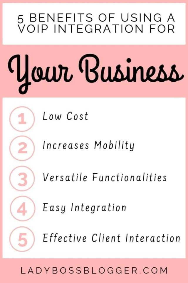5 Benefits Of Using A VoIP Integration For Your Business LadyBossBlogger.com