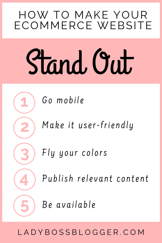 Ecommerce Website Stand Out
