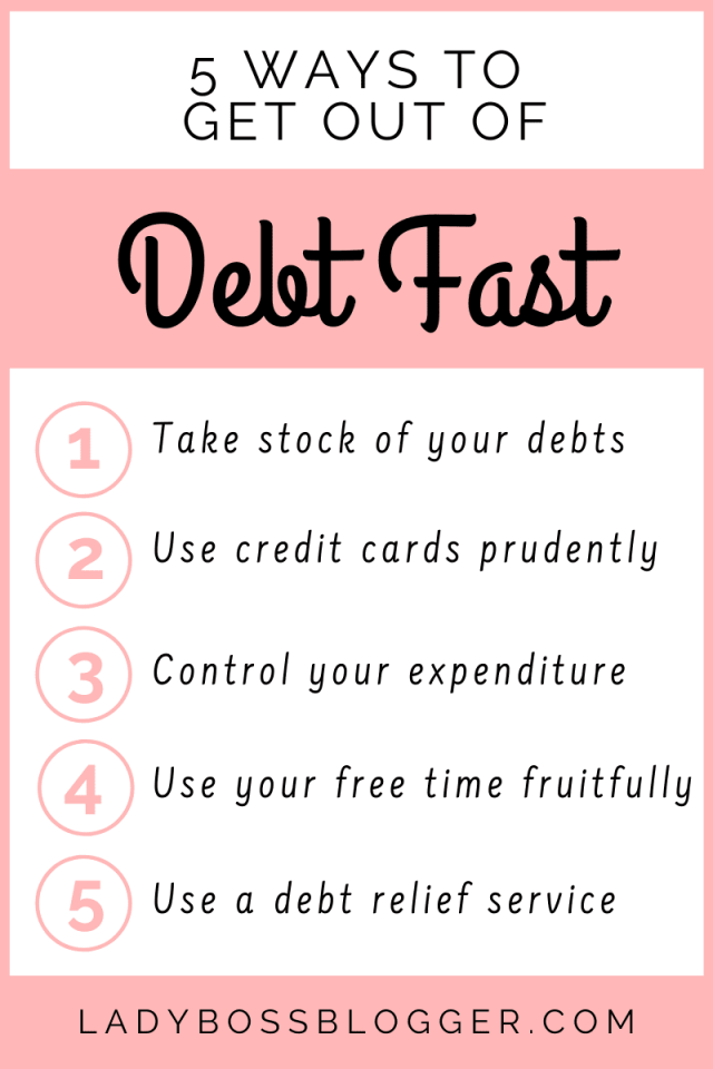 get out of debt fast ladybossblogger