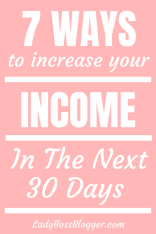 Increase Your Income In The Next 30 Days