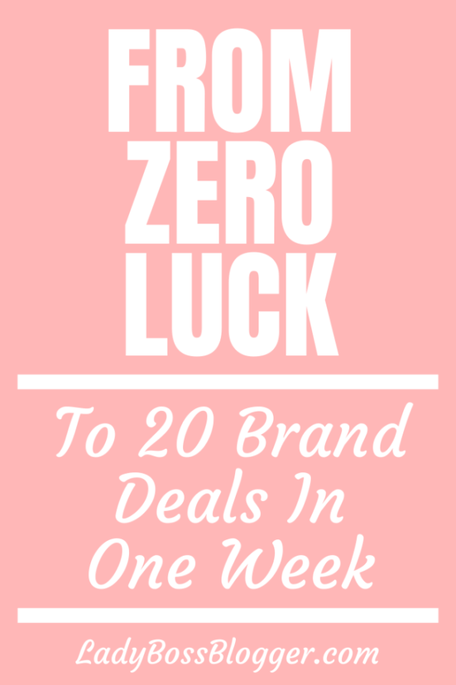 From Zero Luck To 20 Brand Deals In One Week Elaine Rau LadyBossBlogger.com