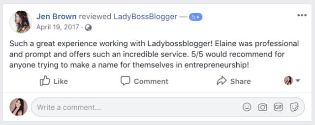 ladybossblogger 5 star reviews