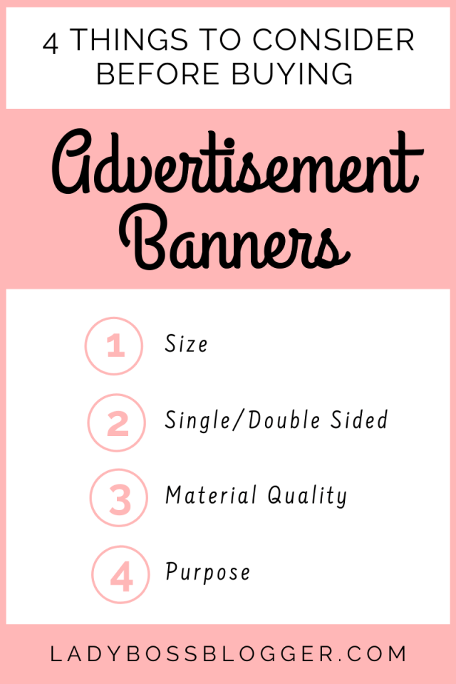 4 Things To Consider Before Buying Advertisement Banners LadyBossBlogger.com