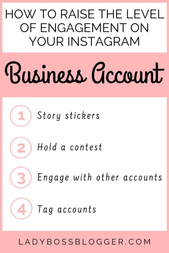 How To Raise The Level Of Engagement On Your Instagram Business Account ladybossblogger.com