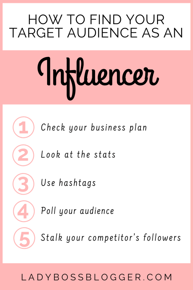 How to find your target audience as an influencer LadyBossBlogger.com