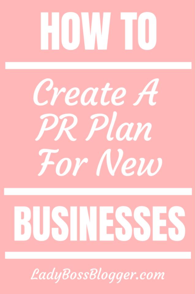 Create PR Plan Ladybossblogger.com