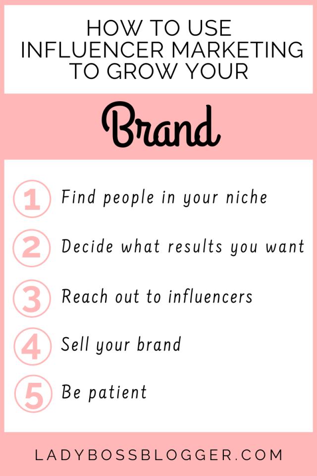 influencer marketing grow brand Ladybossblogger.com