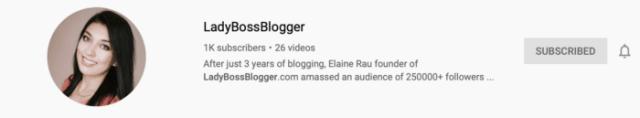 YouTube ladybossblogger.com