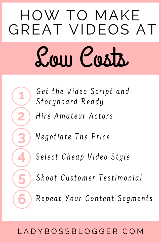 How To Make Great Videos At Low Costs ladybossblogger.com