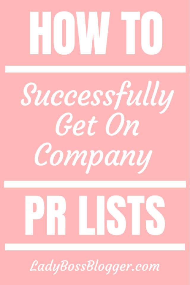 get on pr lists LadyBossBlogger.com