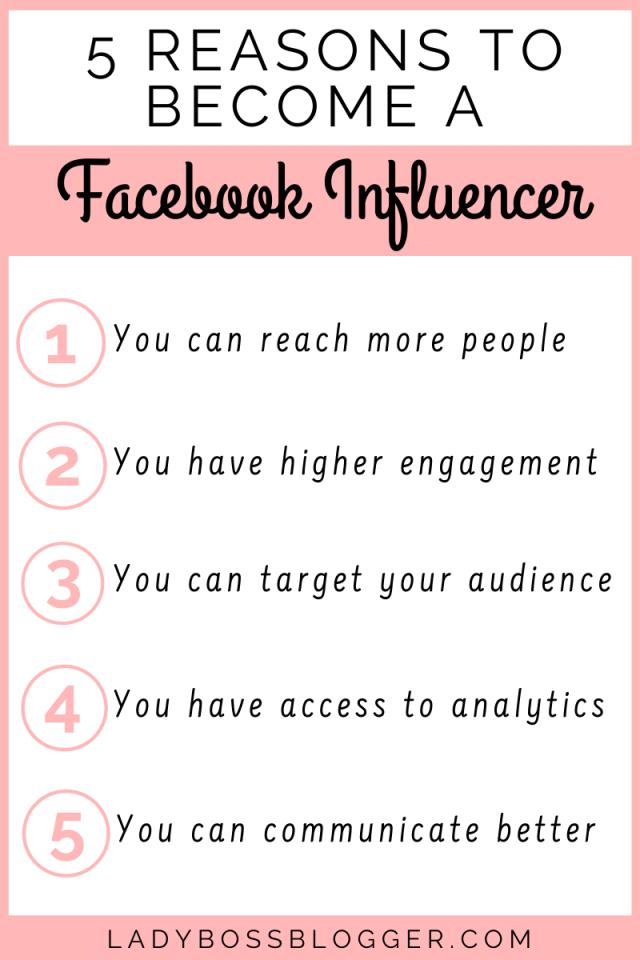 become facebook influencer ladybossblogger.com