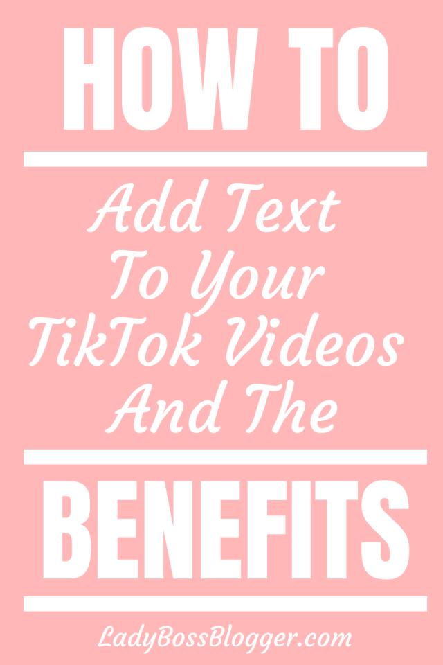 Text TikTok LadyBossBlogger.com