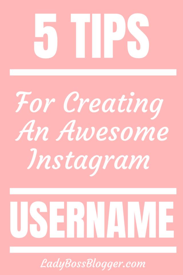 Instagram username LadyBossBlogger.com
