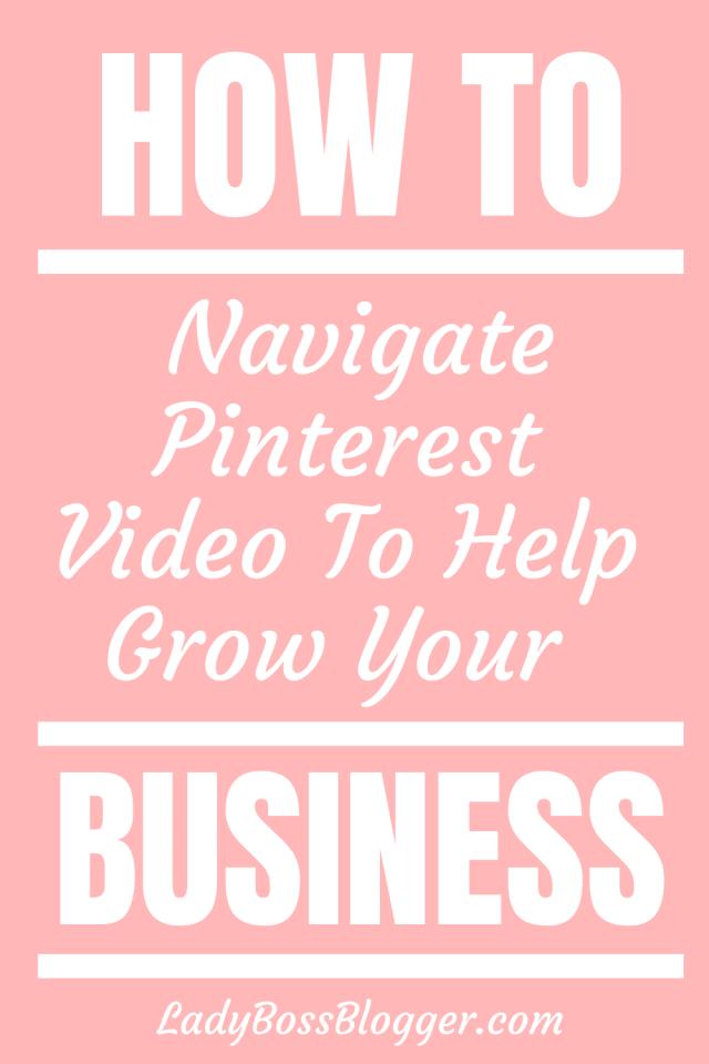 Pinterest Video LadyBossBlogger.com